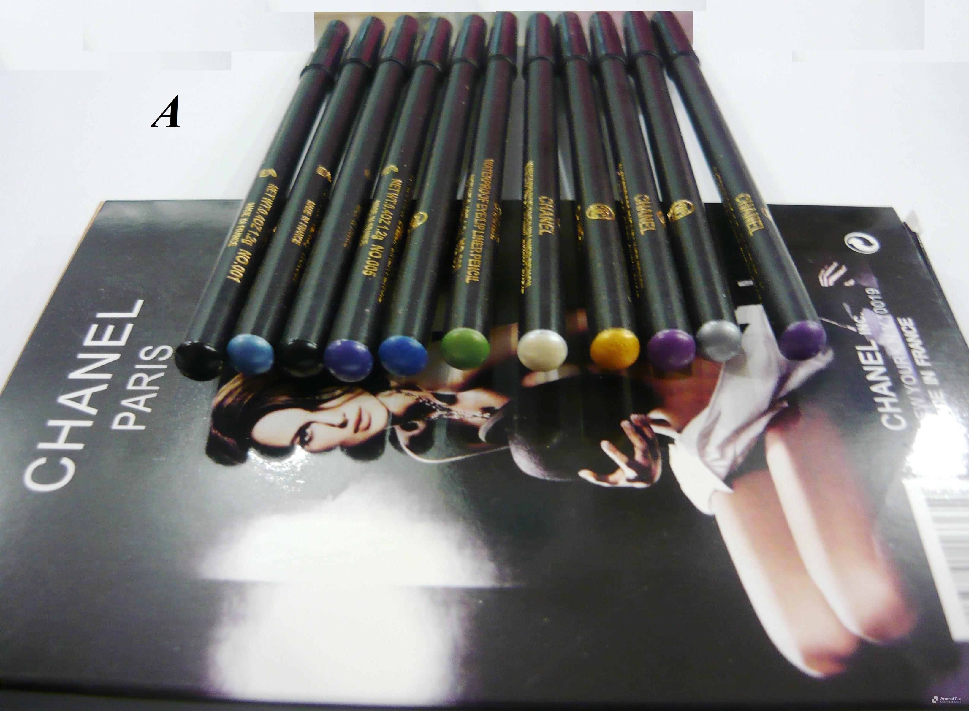 Карандаши цветные для глаз Chanel 12 шт в упаковке