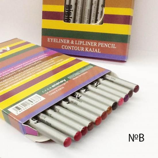 Карандаши цветные для губ Sisley 12 шт в упаковке